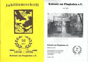 Jubiläumsschrift zum 50-jährigen Bestehen der Kolonie am Flughafen